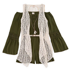 Arizona Olive Romper with Vest - Girls' 7-16 & Plus