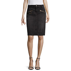a.n.a® Front-Zip Mini Skirt