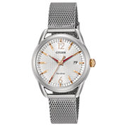Citizen Womens Silver Tone Bracelet Watch-Fe6081-51a