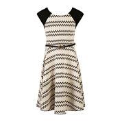 Speechless® Short-Sleeve Chevron Skater Dress - Girls