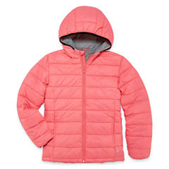 Xersion Lightweight Puffer Jacket - Girls-Big Kid Plus Tall