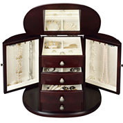 Monet Jewelry Chestnut Jewelry Box
