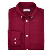 IZOD® Long-Sleeve Herringbone Shirt - Boys 8-20