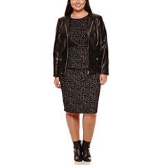 Liz Claiborne® Faux-Leather Peplum Jacket, Belted Peplum Top or Pencil Skirt