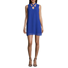 by&by Sleeveless Shift Dress-Juniors