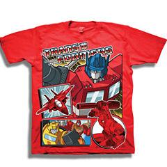 Short Sleeve Transformers T-Shirt-Preschool Boys