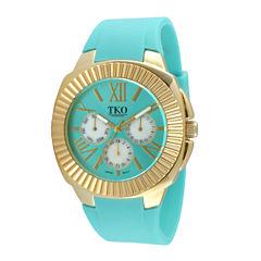 TKO ORLOGI Womens Blue Silicone Strap Sport Watch