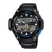 Casio® Twin Sensor Mens Black Resin Strap Analog/Digital Sport Watch SGW450H-1A