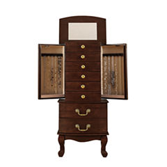 Monet Jewelry Walnut Jewelry Armoire