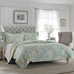 Laura Ashley Brompton Floral Quilt Set
