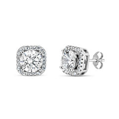 4 3/4 CT. T.W. Round White Cubic Zirconia Sterling Silver Stud Earrings