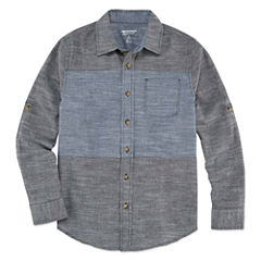 Arizona Long-Sleeve Woven Cotton Shirt - Boys 8-20 and Husky
