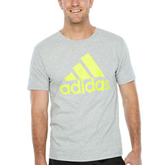 adidas Short Sleeve Crew Neck T-Shirt-Athletic