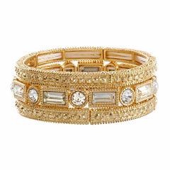 Natasha 3-pc. Crystal Gold-Tone Stretch Bracelet Set