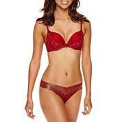 Ambrielle® Ultimate Upsize & V Lace Thong