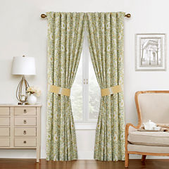 Waverly Paisley Verveine Rod-Pocket Curtain Panel