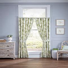 Waverly Fleuretta Rod-Pocket Curtain Panel