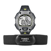 Timex® Ironman Road Trainer Heart Rate Monitor Gray Dial Chronograph Watch T5K719F5