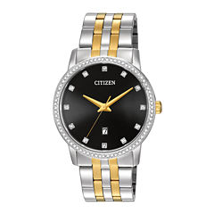 Citizen® Mens Crystal-Accent Two-Tone Stainless Steel Watch BI5034-51E