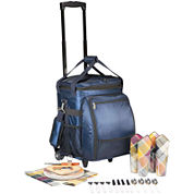 Picnic Time® Avalanche Picnic Cooler on Wheels – Service for 4