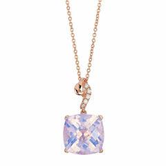 Le Vian® Grand Sample Sale Lavender Quartz & Vanilla Diamonds® Accent in 14k Strawberry Gold® Pendant Necklace