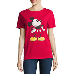 Mickey Mouse Graphic T-Shirt- Juniors