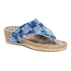 Muk Luks® Sue Ellen Wedge Sandals