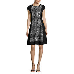 nicole by Nicole Miller® Cap-Sleeve Fit-and-Flare Dress