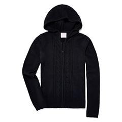 IZOD® Long-Sleeve Zip Sweater Hoodie - Girls 7-16 and Plus