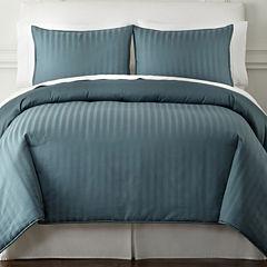 Royal Velvet® 400tc Damask Stripe Cotton Comforter Set