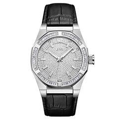 JBW Stainless Steel Apollo Mens Black Strap Watch-J6350a