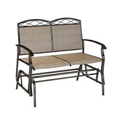 Corliving Speckled Brown Patio Double Glider