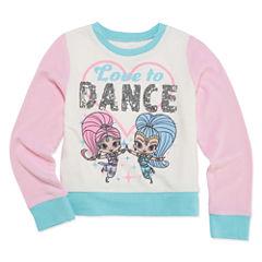 Shimmer And Shine Long Sleeve Animal Sweatshirt - Preschool Girls