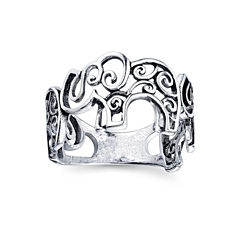 Footnotes Sterling Silver Midi Ring