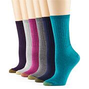 Gold Toe® 6-pk. Ribbed Crew Socks