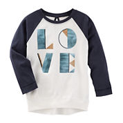 OshKosh B'gosh® TLC Love Raglan Tunic - Toddler Girls 2t-5t