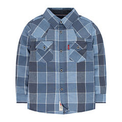 Levi's® Long-Sleeve Plaid Barstow Western Shirt - Toddler Boys 2t-4t