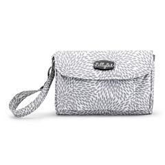 LillyBit Gray Floral Burst Diaper Bag