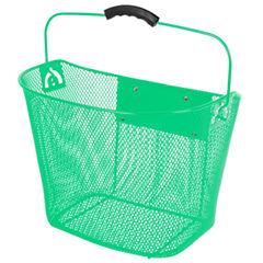 Ventura Unisex Quick Release Green Wire Basket
