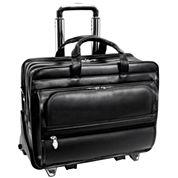 Franklin 17 Leather Detachable Wheeled Laptop Case