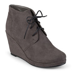 Journee Collection Enter Womens Wedge Booties