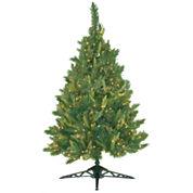 4.5' Pre-Lit Mixed Pine Christmas Tree