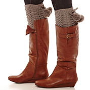Mixit™ Open-Weave Pom Pom Boot Toppers