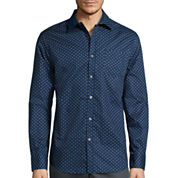 Claiborne® Long-Sleeve Collections Slim-Fit Stretch Woven Shirt