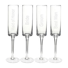 Cathy's Concepts 4-pc. Champagne Flutes