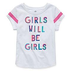 Okie Dokie Graphic T-Shirt-Toddler Girls