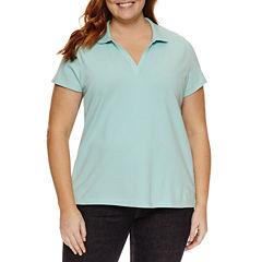 St. John's Bay® Short Sleeve Polo - Plus