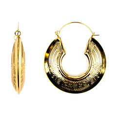 Decree Tribal-Design Hoop Earrings