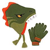 Dino Hat & Glove Set - Boys 8-20