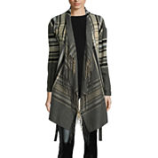 i jeans by Buffalo Long-Sleeve Plaid Open-Front Jacket